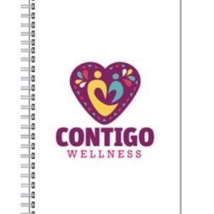 Contigo Wellness Journal Metal Bound White